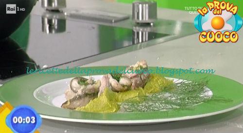 Sgombro su crema di patate e asparagi ricetta Salvatori da Prova del Cuoco