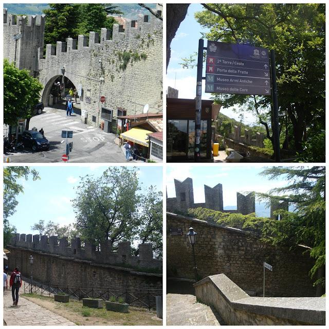 caminho da Guaita Tower para a Cesta Tower