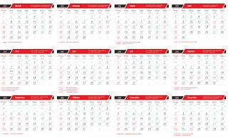 KALENDER 2018 Lengkap Indonesia Arab Jawa FULL 12 BULAN