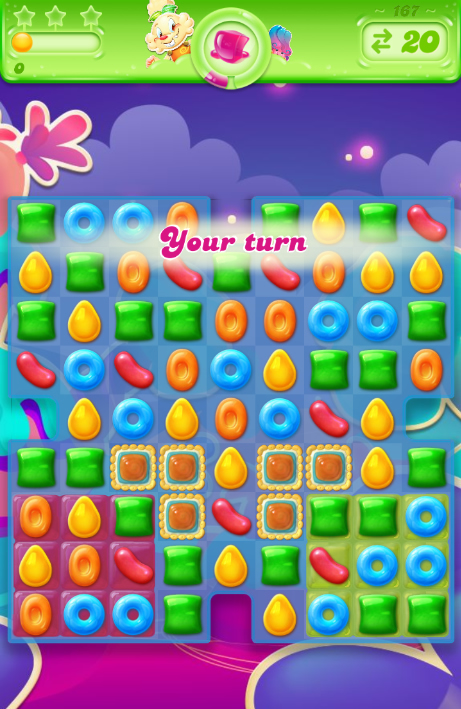 Candy Crush Jelly Saga 167