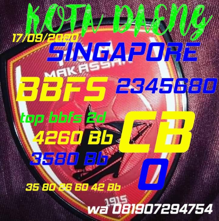 Kode syair Singapore Kamis 17 September 2020 44