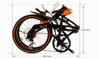 Sepeda Lipat DOPPELGANGER 202 Blackmax 20 Inci