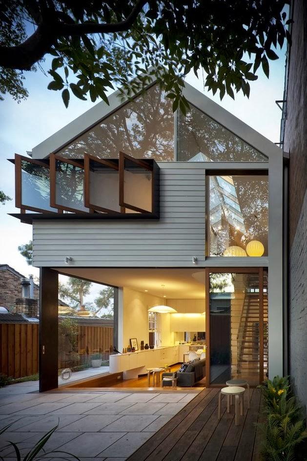 Rumah Sederhana Terbuka Dua Lantai