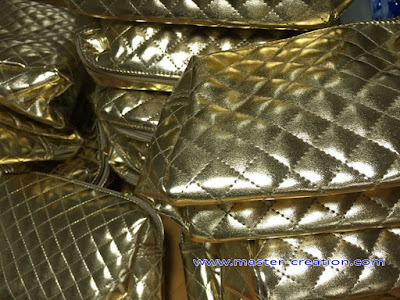 gold quilted leather bag
