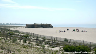 World War 2 Bunker on the Beach in Cape May
