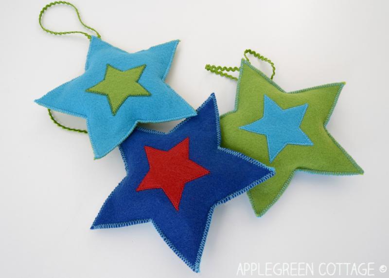 Felt Christmas Decorations To Make Free Patterns.Diy Christmas Decorations Felt Stars Free Pattern