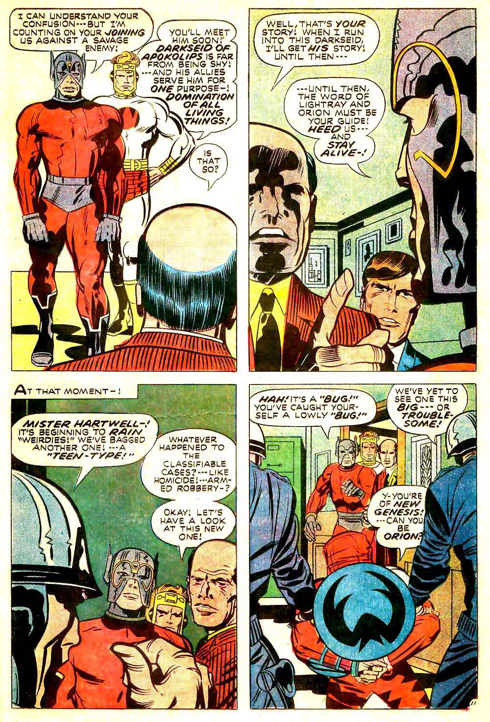 New Gods v1 #10 dc bronze age comic book page art by Jack Kirby