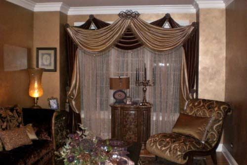 Curtain Ideas For Oriental Living Room Style