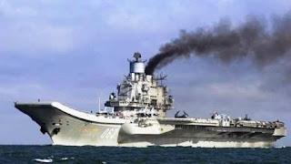 """Por primera vez en la historia, el enorme """"Almirante Kuznetsov"""", entró en acción de combate, con ataques masivos contra yihadistas, en Homs e"""