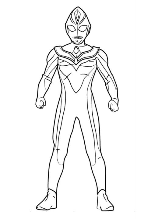 Gambar Mewarnai Robot Ultraman
