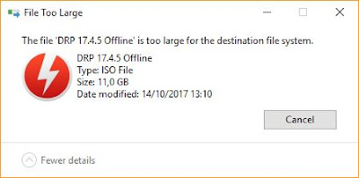 "2 Cara Mengatasi Error ""The File Is Too Large For The Destination File System"""
