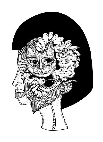 arte por Jody Pham | creative emotional black and white drawings, cool stuff, pictures, deep feelings | imagenes chidas imaginativas bonitas, emociones y sentimientos