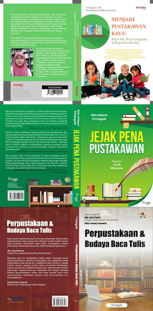 Menjadi Pustakawan Kaya (2016), Jejak Pena Pustakawan (2018), Perpustakaan & Budaya Baca (2019)