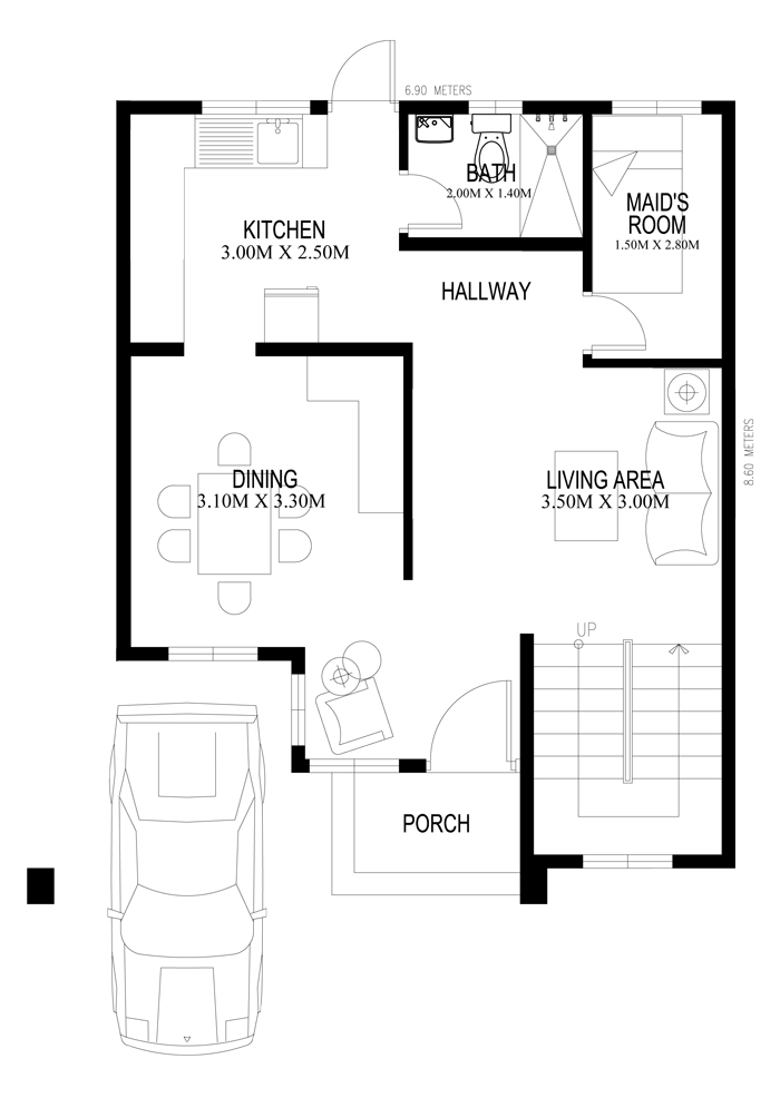 Find the perfect 2 storey custom home blueprints for you for Ground floor house design