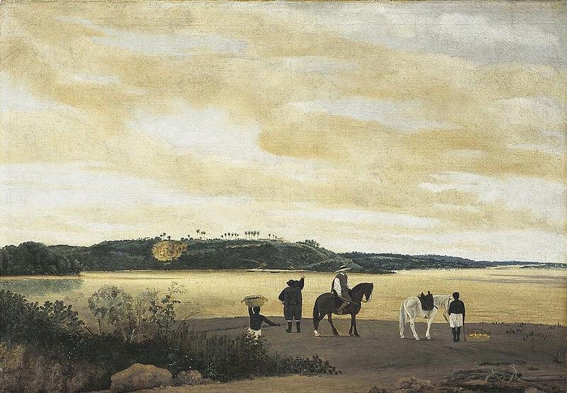 Vista de Itamaracá ~ Frans Post - Holandês - Barroco Brasil Colonial