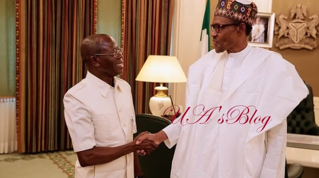 Revealed: How APC Governor Insulted Party Chairman, Oshiomhole In President Buhari's Presence