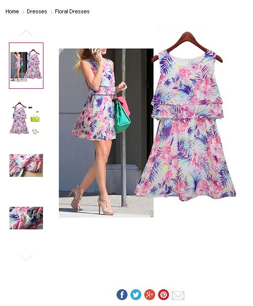 52a017fbae1 ... Floral Print Pink White and Black. Funky Dress - Clothing And Sales  Online
