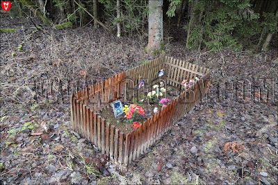 Кладбище домашних животных. Могилки трех пекинесов