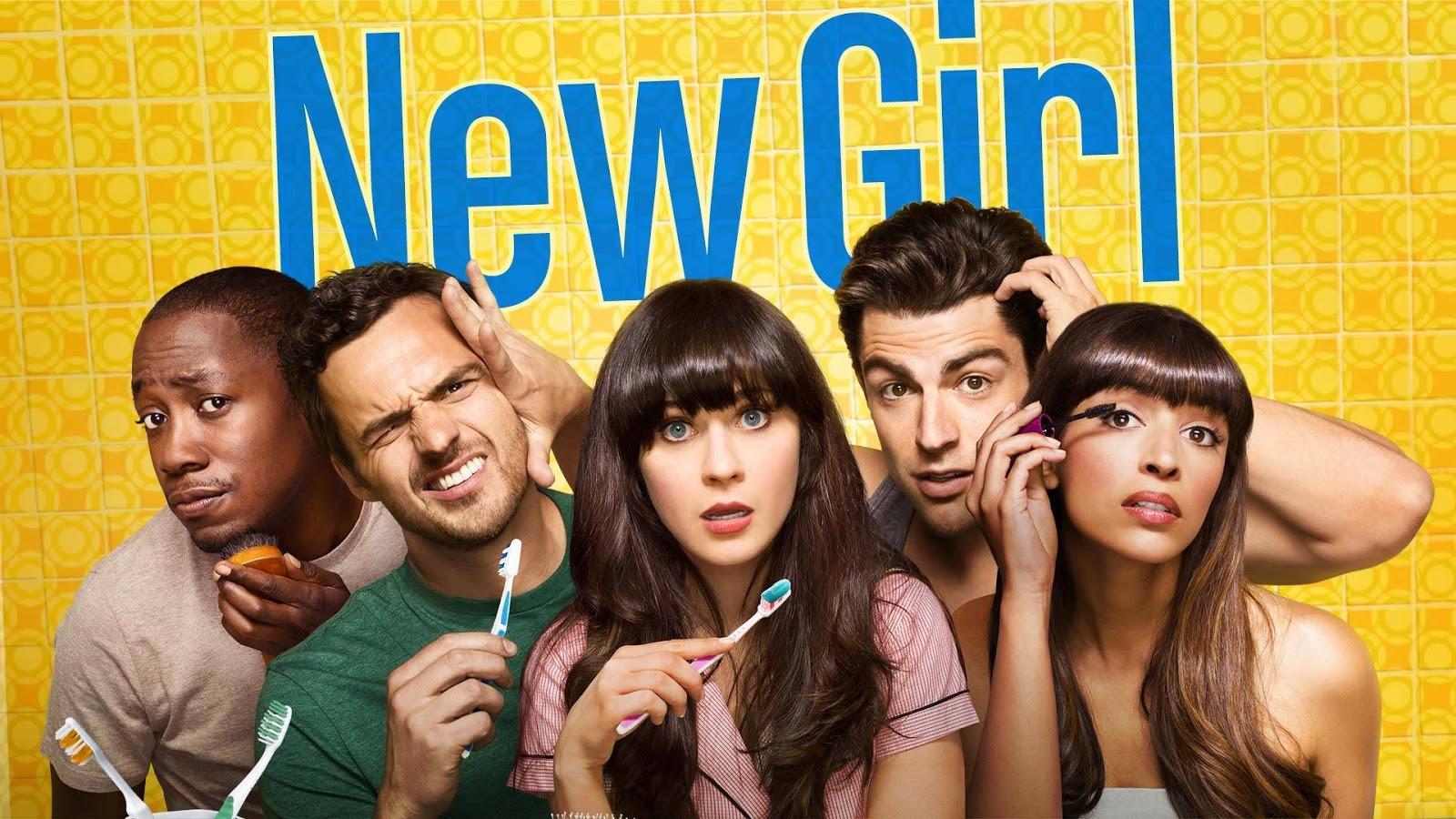 Jess, Nick, Cece, Schmidt y Winston en una foto promocional de New Girl