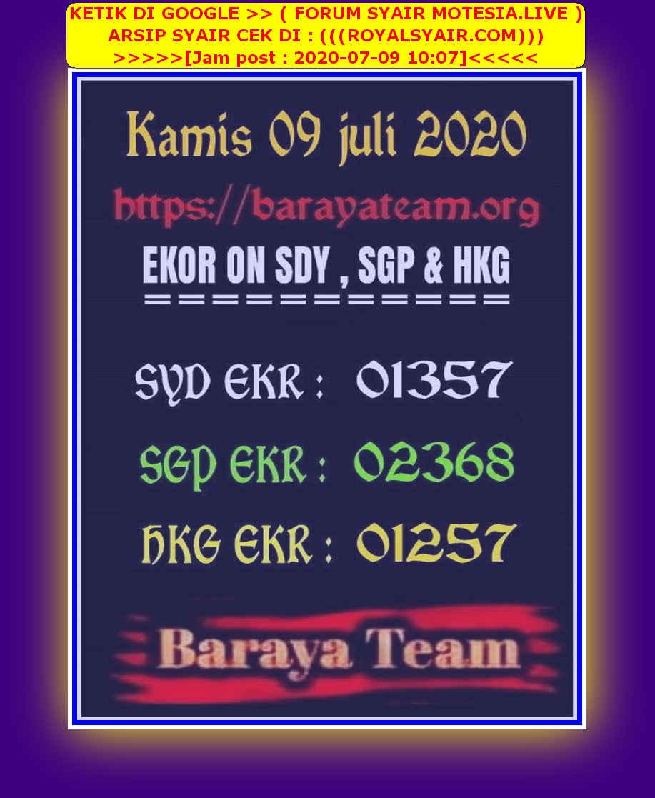 Kode syair Singapore Kamis 9 Juli 2020 105