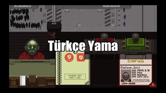 Paper Please Türkçe Yama
