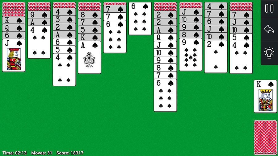 Screenshot Spider Solitaire image