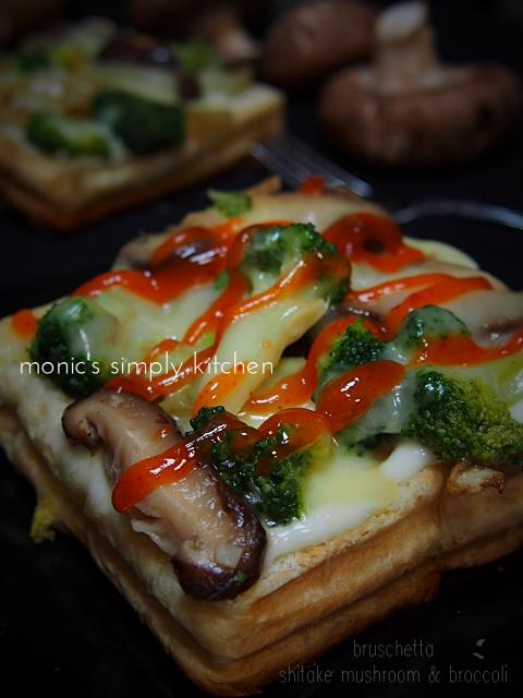 resep bruschetta brokoli jamur shitake