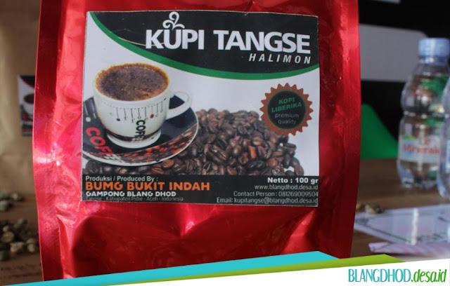Kopi Tangse Halimon produksi BUMG Bukit Indah BlangDhod.Desa.ID