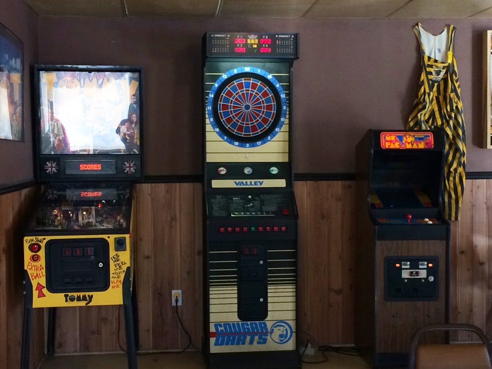 arcade games at Schmohz Brewery in Grand Rapids