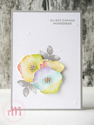 Stampin' Up! rosa Mädchen Kulmbach: Glückwunschkarten in Regenbogenoptik mit Bunt gemischt und Geburtstagsmix