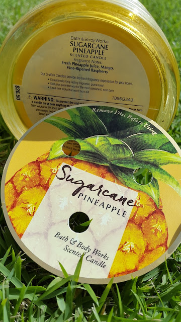 Bath and Body Works 'Sugarcane Pineapple' 3 Wick Candle - www.modenmakeup.com