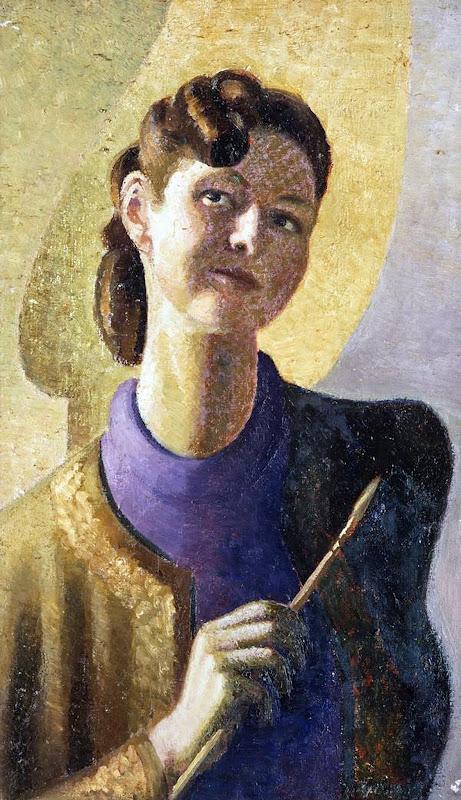 Margaret Oliver Brown, Self Portrait, Portraits of Painters, Fine arts, Margaret Olive, Portraits of painters blog, Paintings of Margaret Olive, Painter Margaret Olive