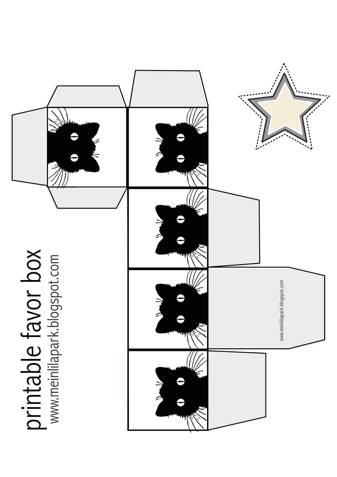 save the cat template - free printable cat favor box ausdruckbare geschenkbox