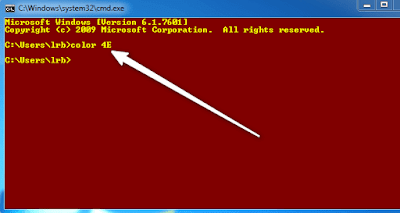 Command Prompt Changing Colors