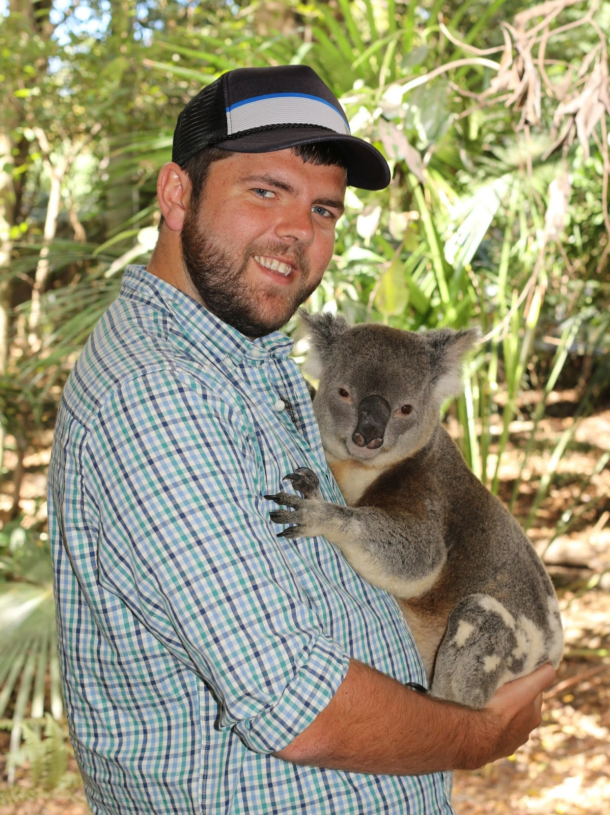 Dan with Byron at Lone Pine Koala Sanctuary