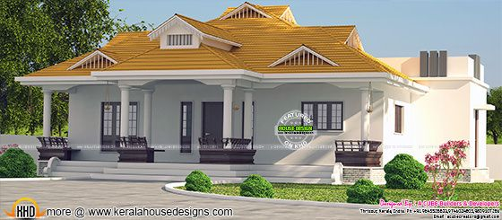 1950 sq-ft modern sloping roof home