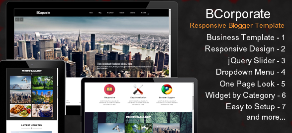 Download BCorporate Free – Responsive Blogger Template