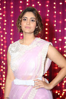 Surabhi in Designer Pink Saree and White Sleeveless Choli at Zee Telugu Apsara Awards 2017 12.JPG