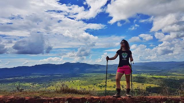 Vista do Mirante Nova Aurora, em Cavalcante, Goiás.