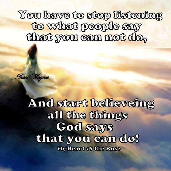 God says that you can do