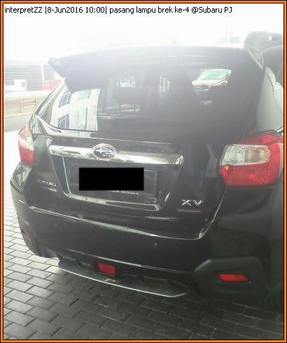 Pasang lampu brek ke-4 pada Subaru XV STI di Subaru Petaling Jaya