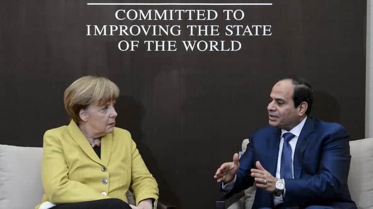 السيسي-يؤكد-لميركل-حرص-مصر-على-التوصل-لتسوية-سياسية-شاملة-في-ليبيا/