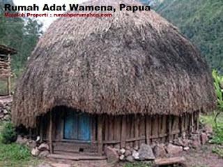 Desain Bentuk Rumah Adat Wamena dan Penjelasannya, Rumah Adat Papua