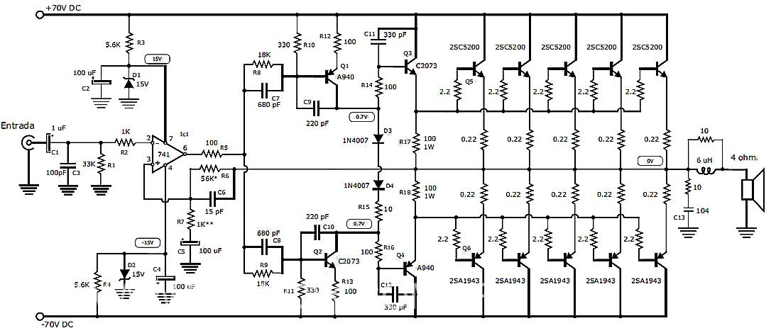 Circuito De Amplificador De Audio De 1000w Pdf : Eletrônico projetos amplificadores de audio