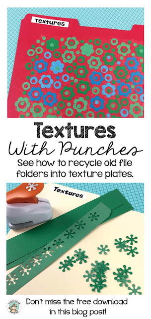Don't throw away your old file folders!  I'll show you how to create your own DIY texture rubbing plate that you can use for your next art lesson!