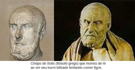 Crisipo de Solis (filósofo grego) que morreu de rir