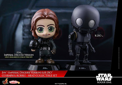 Star Wars Rogue One Imperial Disguise Jyn Erso & K-2SO Cosbaby Mini Figure Set by Hot Toys