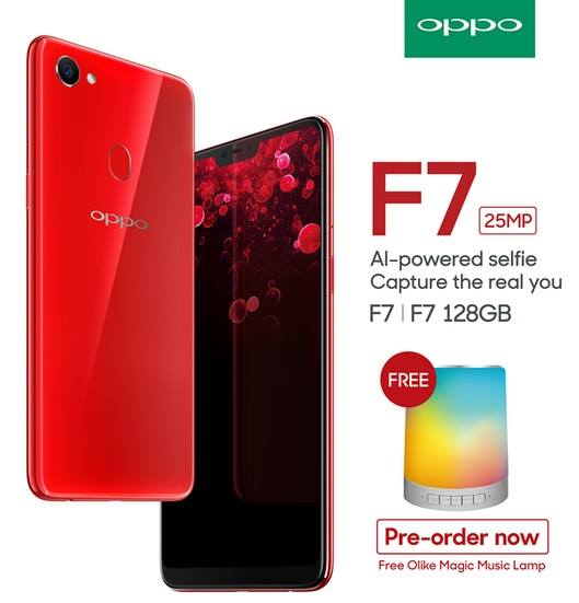 OPPO F7 Pre-Order Starts on April 12 with Free OLike Magic Music Lamp