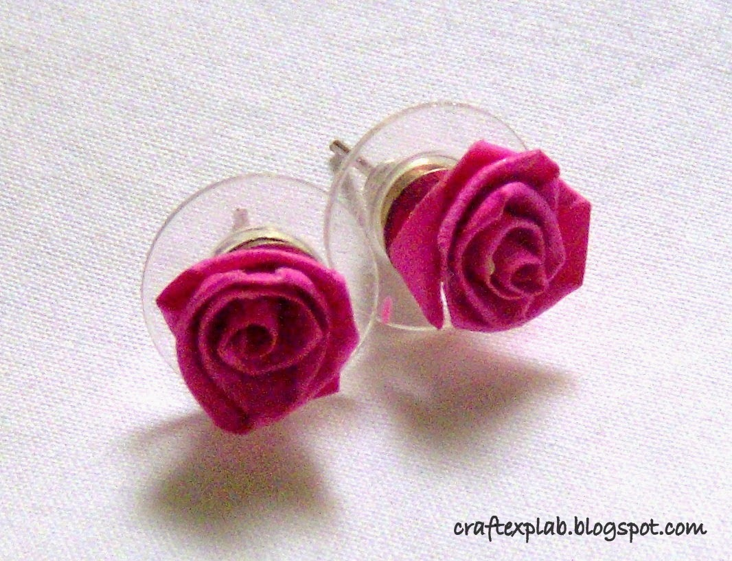 Craft lab paper quilled rose ear studs a simple ear stud quick to makeves your day when you dont have anything matching to wearyou can learn to make the paper rose at honeysquilling mightylinksfo