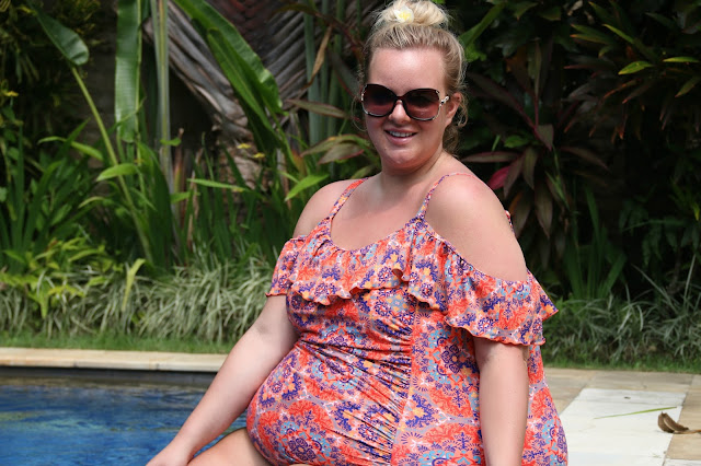 Plus Size Blogger wearing Yours Clothing at Askara Villa in Canggu Bali